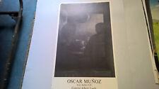 "AFFICHE D EXPOSITION  "" OSCAR MUNOZ "" GALERIE LOEB ANNEES 70 80"