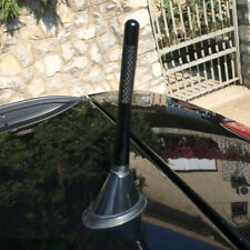 "4.7"" inches Universal Car Antenna Carbon Fiber Radio FM Antena Black Kit + Screw"