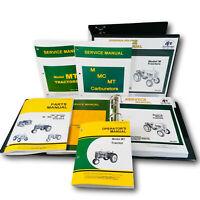 SERVICE PARTS MANUAL SET FOR JOHN DEERE MT TRACTOR CATALOG SHOP REPAIR BOOK M
