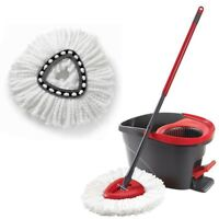 1/2/6Pcs Replacement Heads Easy Cleaning Mopping Wring Spin Mop Refill Mop - USA