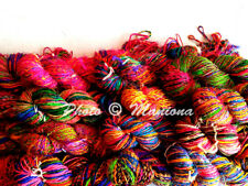 Handspun Recycled Soft Silk Sari Knit Crochet Woven Yarn 2000 Grams- 20 Skeins
