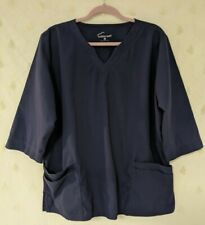 Butter Soft sz Xl Navy Blue scrub top with 3/4 length sleeves