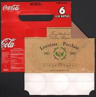Coca Cola Cardboard 6-Pack Bottle Case - 2003 Louisiana Purchase Carrier