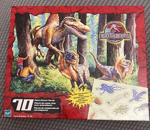 "VTG 2001 Hasbro Jurassic Park III ~ 70 Piece Sticker Puzzle 10"" x 13"" SEALED"
