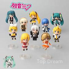 10X Anime Hatsune Miku Nendoroid Vocaloid Project Diva F Action Figure Set Doll