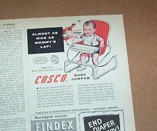 1957 vintage print ad - Cosco baby furniture Hamilton Columbus Indiana ADVERT