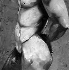 Fine Art Print from original oil painting male men gay nude  portrait S