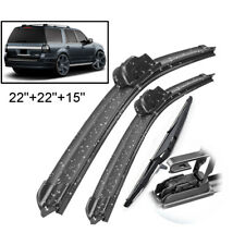 Front Rear Windshield Wiper Blade For Ford Expedition Lincoln Navigator 2009-16