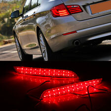 2x LED Rear Bumper Reflector Brake Light For BMW 5 series 2011-2014 F10 F11 528i