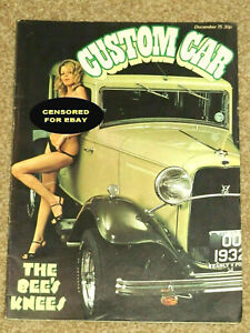 CUSTOM CAR Magazine Dec 1975 - '32 MODEL B, HARLEY ELECTRAGLIDE, PICKUPS, POLLEY