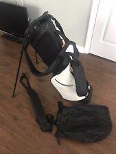 NICE Stitch SL2 Colorblock Black White Golf Stand Bag Double Strap Rain Hood