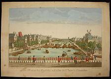 La Maison orphans et le Diode bridge l? Amstel to Amsterdam Engraving 18 Holland