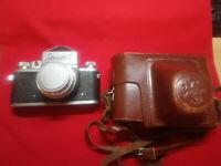 Soviet vintage ussr camera Zenit-С lens industar-50 3,5/50 + case