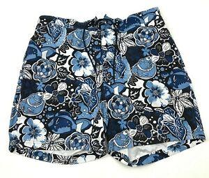 Nautica Swim Short Trunks Mens Size Extra Large XL Blue Mesh Lined Swimsuit Pool