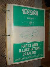 1982-1991 Pontiac Sunbird Parts Book Catalog Numbers Book Wow T Series 88 89 90