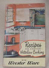 1949 Wooster Ware Aluminum Pot Pan Kettle Recipe Stove Top Book Cook Booklet