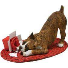 Sandicast Brindle Boxer Figurine Christmas Decoration.Last 3 left!