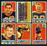 1956 Topps Lot of 6 Green Bay Packers Team card Howton Forester