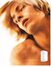 PUBLICITE ADVERTISING  2000   GUCCI  parfum homme RUSH