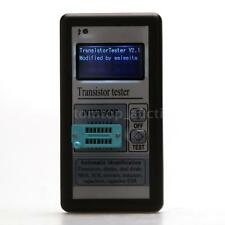 128*64 LCD Digital Transistor Tester Capacitor Diode Thyristor ESR LCR Meter US