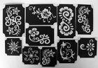 bm2017 set 2 henna designs GLITTERTATTOO 10 different stencils glitter tattoo