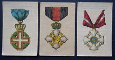 WAR MEDALS SILKS ITALY issued 1911-1917 Wills Australia