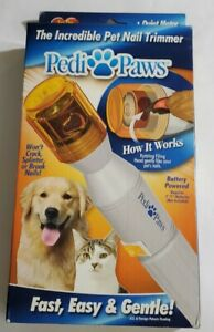 Pedi Paws Pet Nail Trimmer Clipper Grooming Tool Dog Cat Open Box Tested