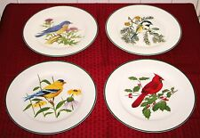 "4 National Wildlife Federation Birds of North America 10 3/4"" Dinner Plates VGD"