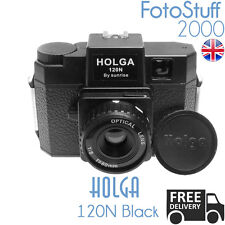 HOLGA 120N NERO BK LOMO MEDIO FORMATO Film Camera STOCK Nuovo di Zecca UK 120 N