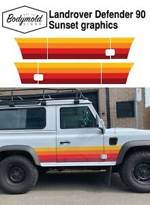 Landrover Defender 90 series Sunset Graphics