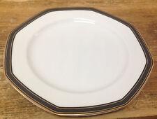 Christopher Stuart YOOO9 Black Dress 1 Salad Dessert Plate White Octagonal Gold