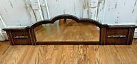 Antique Vintage Victorian Wood Framed Hanging Mirror