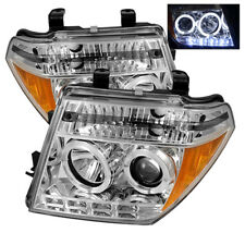 Fit Nissan 05-08 Frontier / 05-07 Pathfinder Dual Halo LED Projector Headlights
