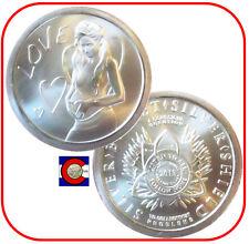 "2013 SBSS ""Love"" Silver Coin - Silver Bullet Silver Shield in airtite"