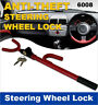1 CAR ANTI-THEFT SECURITY LOCK 6008 STEERING WHEEL TRUCK VEHICLE LOCKS + 2 KEYS