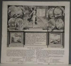 AMERICAN REVOLUTION WAR 1785 PONCE & GODEFROY ANTIQUE COPPER ENGRAVED TITLE PAGE