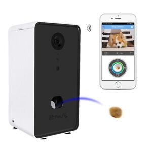 Smart Cat Dog Feeder Auto Wi-Fi Camera Remote Feeding Timer Talk Interactive Fun