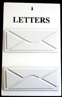 Briefbox / Letterbox / Briefständer / Postablage / Halter / Weiß / Holz / Shabby