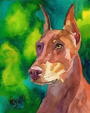 Doberman Pinscher 11x14 signed art PRINT painting RJK