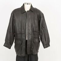 Mens Soft MARC New York Leather Jacket Size M Insulated Quilted Liner