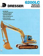 Dresser Vintage 6200Lc Hydraulic Excavator Brochure