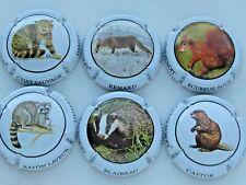 Série de 6  capsules Champagne  CHËNEBENOIT les petits animaux
