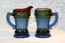 Summit Art Glass Russ Vogelsong Creamer and Handled Mug Leaves Berries VIntage