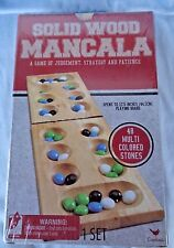 Mancala Game of Judgement Solid Wood Foldable Board Stones