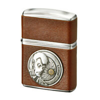 Zippo Armor Case Lupin the Third Metal Brown Cow Leather Roll Japan Limited Rare