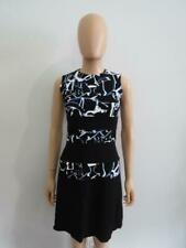 Proenza Schouler Black/Multi Abstract Viscose Sleeveless Dress, Size 0