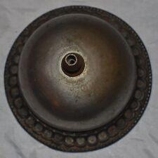 Vintage Brass Hotel Desk Bell that still Rings! Victorian Carved Design