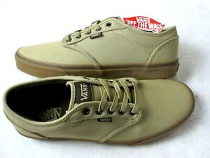 Vans Mens Atwood Classic 12 Oz Canvas Khaki Brown Skate Casual Shoes Size 12 NWT