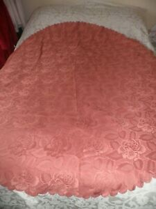 """ROUND TABLE  CLOTH in TERRACOTTA - 70"""" across"""