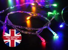 100 LED Battery Powered Christmas Xmas Tree String Fairy Lights, Multi Coloured